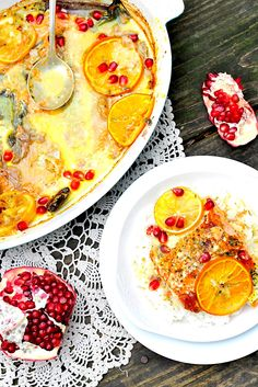 Simply Gourmet: Citrus Baked Salmon with Pomegranate