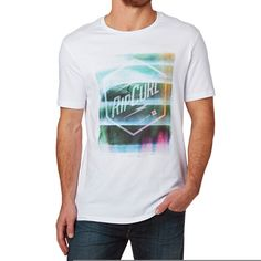 Men's Rip Curl T-shirts - Rip Curl Impossibles T-shirt - Optical White