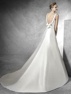 Stunning Mikado Satin A-line Wedding Gown - Tona by Pronovias