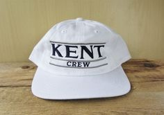 KENT School CREW Vintage 90s Snapback Hat The Game Split Bar Russell  Athletic 226b36fe3201