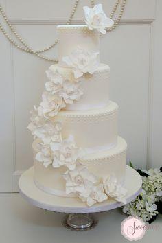 Gardenia Wedding Flowers | great gatsby wedding cake, white wedding cakes london, vintage wedding ...