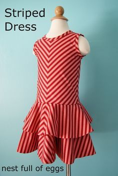 nest full of eggs: FREE Striped Dress Sewing Pattern and tutorial, 4 year old size