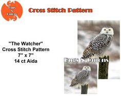 The Watcher Owl  Cross Stitch Pattern PDF File by BugzAndOnions