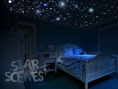 Constellation And Glow In The Dark Ceiling Stars Kit Designs