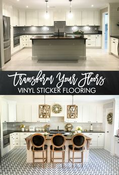 How to apply vinyl stickers to your tiles - transform your entire space with this easy hack!