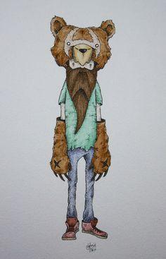Pen & Watercolor I by Clint Reid