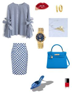 """""""Blue mood"""" by explorer-14907853044 on Polyvore featuring мода, Chicwish, Jonathan Saunders, Hermès, Anne Klein, Versus и Chanel"""