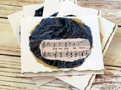 Jazz Music Lover Sheet Music Art Notecard Set by YourSongDesigns
