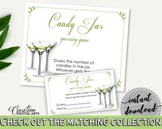 Candy Guessing Game Bridal Shower Candy Guessing Game Modern Martini Bridal Shower Candy Guessing Game Bridal Shower Modern Martini ARTAN #bridalshower #bride-to-be #bridetobe