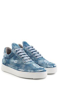 FILLING PIECES Denim Sneakers. #fillingpieces #shoes #