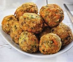 Κεφτεδάκια λαχανικών Greek Recipes, Desert Recipes, Veggie Recipes, Baby Food Recipes, Vegetarian Recipes, Cooking Recipes, Healthy Recipes, Greek Appetizers, Vegan Patties