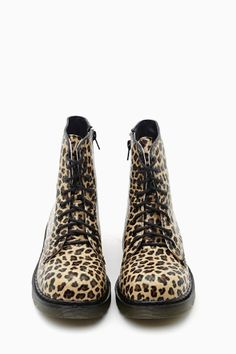 Leopard Combat Boot, change the laces too a funky color and rock it