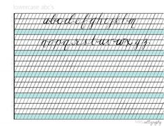 lowercase-calligraphy-alphabet - Julie Blanner entertaining & design that celebrates life