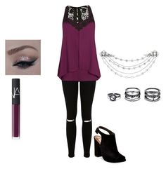 Untitled #15 by borth1227 on Polyvore featuring polyvore fashion style City Chic Miss Selfridge Steve Madden Lulu*s Henri Bendel NARS Cosmetics clothing