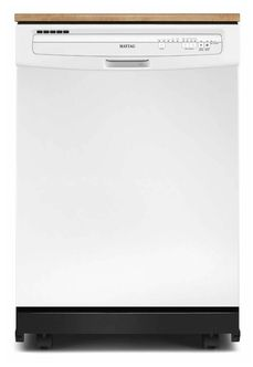 Maytag White 5 Cycle Portable Dishwasher With Front Controls