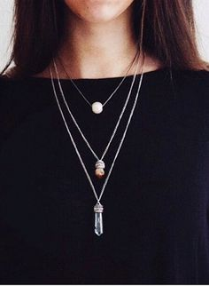 Black + @pinlovelybreeze Quartz = Nailed it! Rita Petrone looking really classy with her new crystal and citrine quartz pendants!