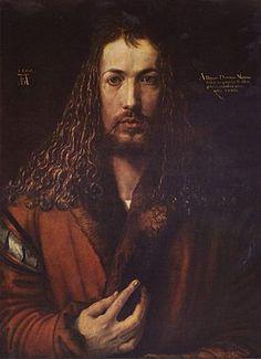 Alberto Durero    Alberto Durero 1500,  óleo sobre tabla