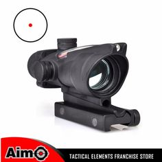 Aim Tactical Sight ACOG Type 1X32 Red Dot Sight Scope with Illumination Source Fiber with 22mm Mount Airsoft Riflescope AO 1001