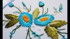 ВЫШИВКА: ЦВЕТОЧКИ для начинающих \ EMBROIDERY: FLOWERS for beginners