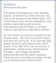 Poveglia island project!! SIgn in!!!