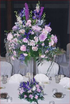 Tall Flower Arrangements | Tall Flower Centerpieces For Weddings | Mia Bella Bridal Gallery