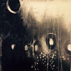 Today's #monotype #printmaking #blackandwhite #abstract #akua #intaglio
