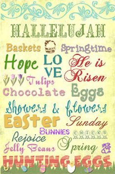10 Free Printable Easter Subway Art - The Wilderness Wife - Cooking, crafting