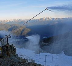 The snowmaking guns on our Horstman Glacier pilot project have officially turned on.   #360ofWB #WinterIsComing    Photo: Jim Budge  http://www.whistlerblackcomb.com