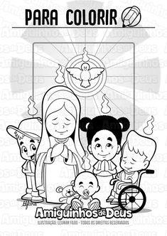 desenho de pentecostes para colorir