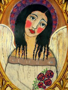 Mexican folk art angel by thebrokencrow, via Flickr