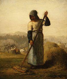 Woman with a rake - Jean-Francois Millet