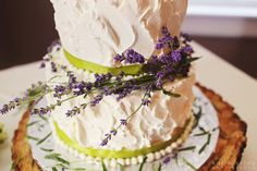 lavender wedding cake decorations