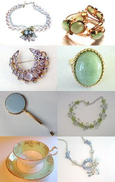 Pale blue and green - A Vogueteam Group Treasury by Cleaver White on Etsy--Pinned with TreasuryPin.com #voguet #vintage