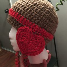 Valentine hat! Very easy and quick.