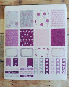 Planner Sticker Set in Purple Thistle: by VintageLilacPaper