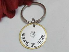Owl Always Be Here Key Chain - Best Friends Gift - Boyfriend / Girlfriend - Hand Stamped Jewelry