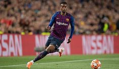 Nelson Semedo of Barcelona controls the ball during the UEFA Champions League Semi Final first leg match between Barcelona and Liverpool at the Nou Camp on May 2019 in Barcelona, Spain. Liverpool Uefa Champions League, Champions League Semi Finals, Soccer Scores, Xabi Alonso, Antoine Griezmann, League Gaming, Camp Nou, Fc Barcelona, Finals