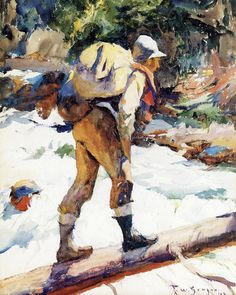 The Hiker by Frank Weston Benson | Art Posters & Prints