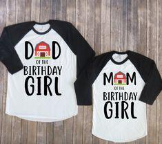 Mamá y papá de cumpleaños niño-granero versión padres de   Etsy