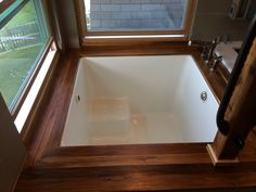 drop in japanese soaking tub. resemblance of unique japanese soaking tub kohler. by the window :) drop in t