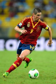 Fernando Torres against Tahiti in the Confederations Cup 2013