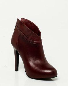 Le Château: Leather Platform Ankle Boot