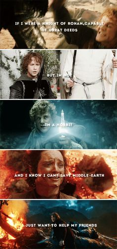 I know it is too late to turn aside. I know there is not much point now in hoping. #tolkien