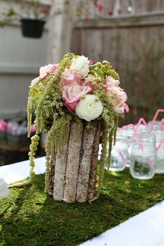 Baby shower decorations fairy garden fairy garden birthday - party and ev. Fiesta Baby Shower, Baby Shower Parties, Baby Shower Themes, Shower Ideas, Shower Baby, Fairy Baby Showers, Forest Baby Showers, Garden Birthday, Fairy Birthday Party