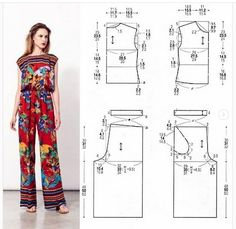 Linen Dress Pattern, Tunic Sewing Patterns, Animal Knitting Patterns, Girl Dress Patterns, Jumpsuit Pattern, Bag Patterns To Sew, Pants Pattern, Clothing Patterns, Skirt Patterns