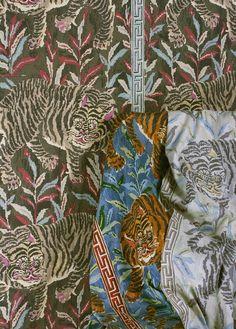 The Peak of Chic®:  Jim Thimpson fabrics- Tiger Tiger!