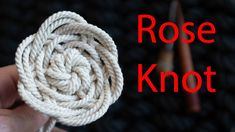A beginners guide to a versatile Rose Knot Macrame Wall Hanging Diy, Macrame Art, Macrame Design, Macrame Projects, The Knot, Celtic Heart Knot, Decorative Knots, Crochet Motifs, Rope Crafts