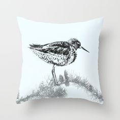 """Throw Pillow made from 100% spun polyester poplin fabric, a stylish statement that will liven up any room. Individually cut and sewn by hand, the pillow measures 16"""" x 16"""", features a double-sided print and is finished with a concealed zipper for ease of care. Includes faux down pillow insert."""