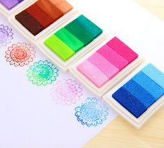 6PCS 6style Inkpad Ink stamp pad Colorful Cartoon Craft Inkpad set for DIY funny work Fingerprint Scrapbooking Accessories * Learn more by visiting the image link.(It is Amazon affiliate link) #ScrapbookingAccessoriesIdeas