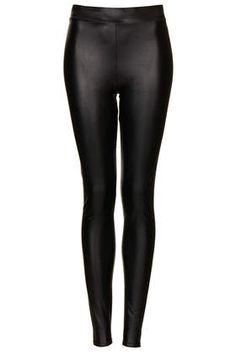 Textured Leather Look Leggings | Topshop